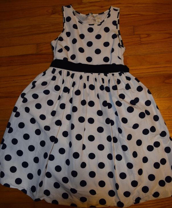 november 2014 fashion budget - j crew polka dot dress