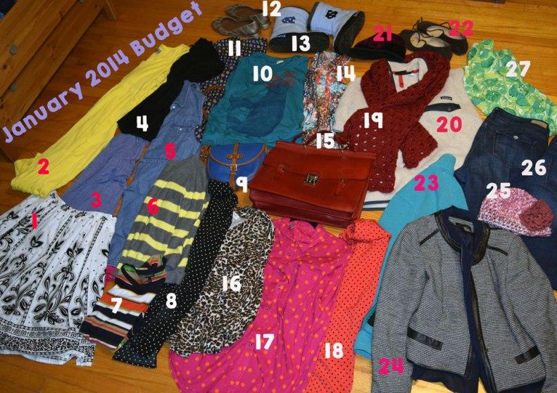 january 2014 budget - budgeting bloggers - fashion budget