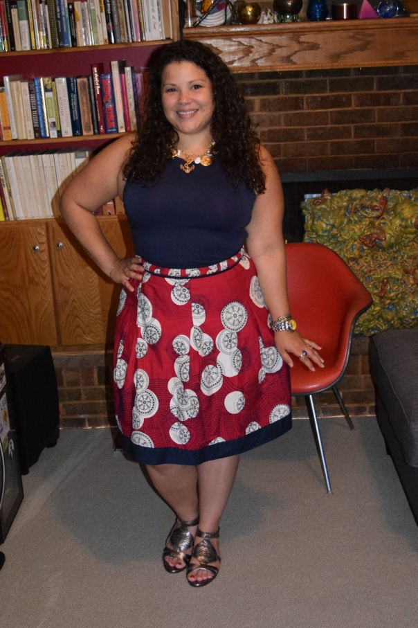 workwear wednesday: navy and red