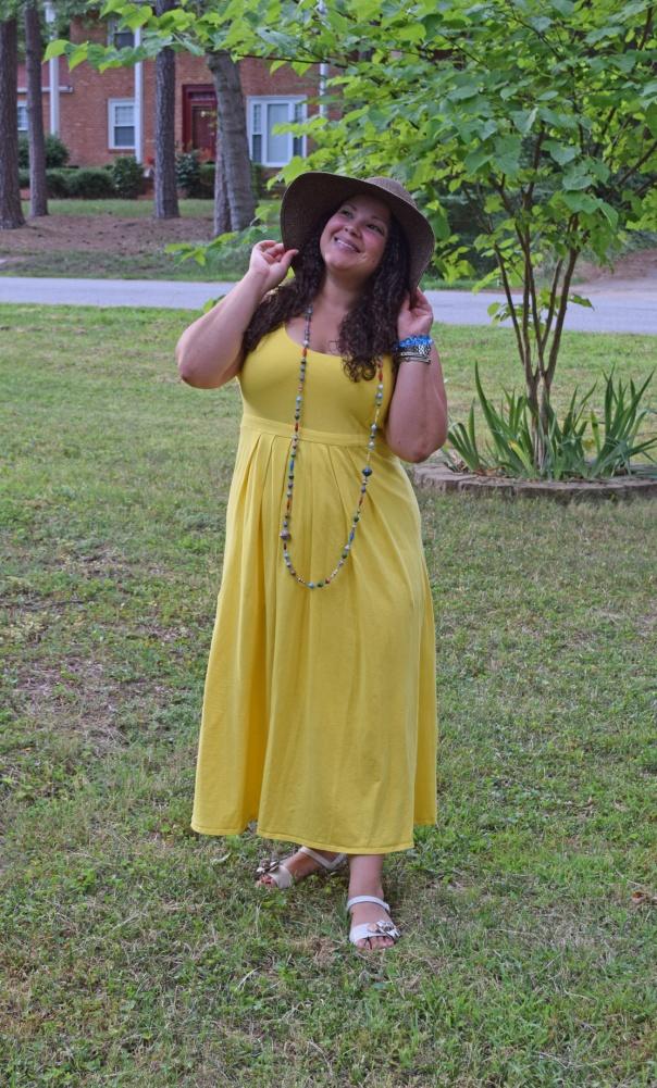 workwear wednesday - yellow maxi dress