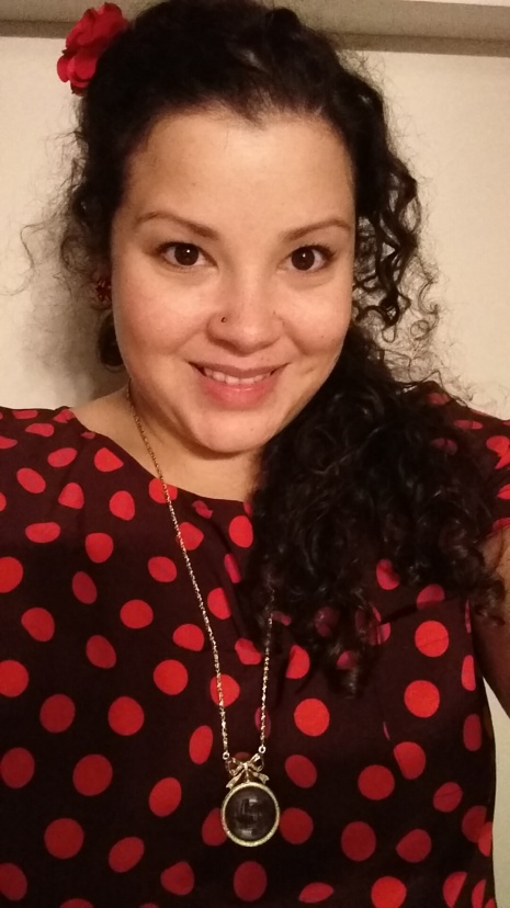Workwear wednesday - red polka dot top selfie