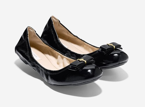 Cole Haan Manhattan Bow Ballet Flats Black