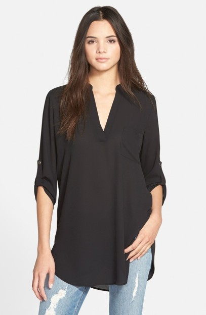 Lush 'Perfect' Roll Tab Sleeve Tunic - Nordstrom