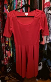 LuLaRoe Nicole Dress in Red