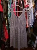 Banana Republic striped ponte fit and flare dress