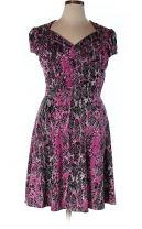 leota snake print sweetheart dress - thredup