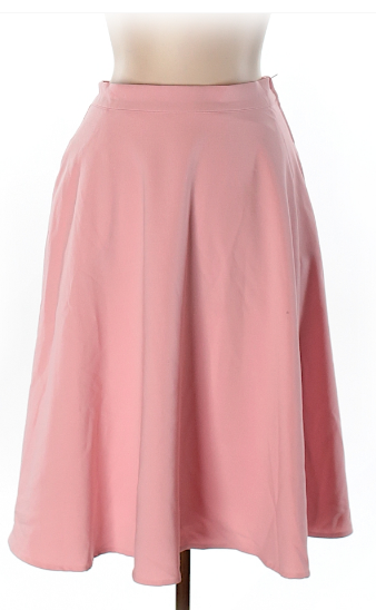 modcloth circle skirt in pink - thredup